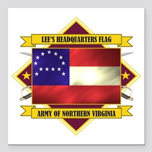 "Lee HQ Flag (Flag 5.1) Square Car Magnet 3"" x 3"""
