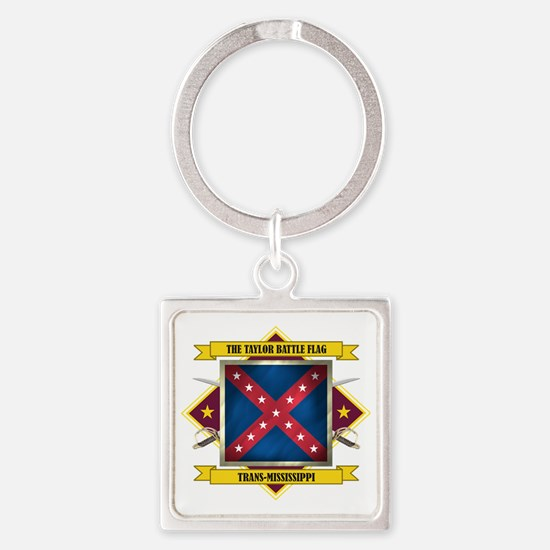 Taylor Battle Flagl (Flag 5.1) Square Keychain