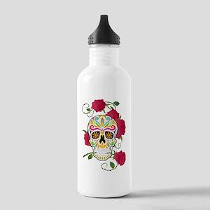Rose Sugar Skull Stainless Water Bottle 1.0L