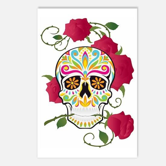 Rose Sugar Skull Postcards (Package of 8)