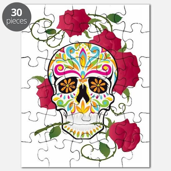 Rose Sugar Skull Puzzle
