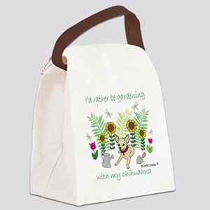 2-ChihuahuaFawn Canvas Lunch Bag