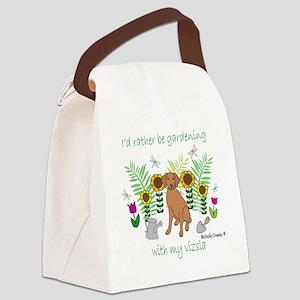 3-Vizsla Canvas Lunch Bag