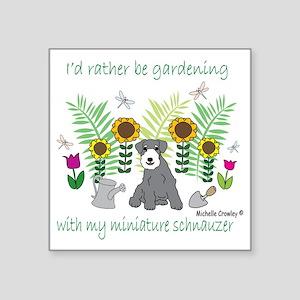"""MiniSchnauzer Square Sticker 3"""" x 3"""""""