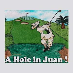 A HOLE IN JUAN mouse pad Throw Blanket
