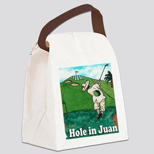 A HOLE IN JUAN mouse pad Canvas Lunch Bag
