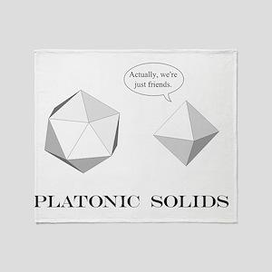 Platonic Solids shirt Throw Blanket