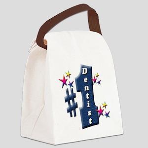 number 1 dentist Canvas Lunch Bag