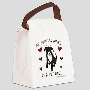 PitBullBlkWt Canvas Lunch Bag