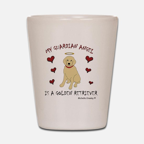 3-GoldenRetriever Shot Glass