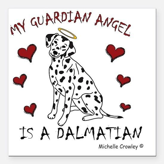 "Dalmatian Square Car Magnet 3"" x 3"""
