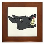 Donkey Framed Tile