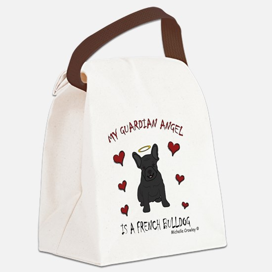 FrenchBulldogBlk Canvas Lunch Bag