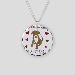 PitBullTanWt Necklace Circle Charm