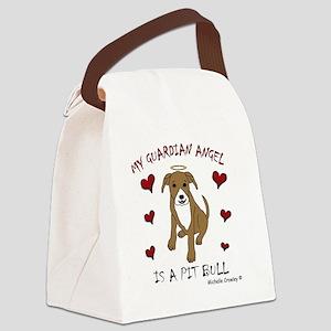 PitBullTanWt Canvas Lunch Bag