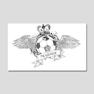 Denmark Football4 Car Magnet 20 x 12