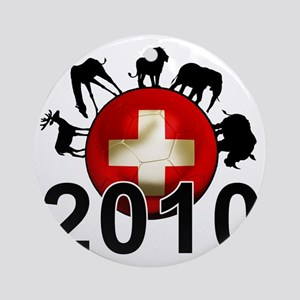Switzerland Football2 Round Ornament