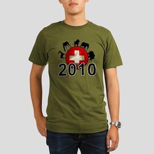 Switzerland Football2 Organic Men's T-Shirt (dark)