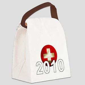 Switzerland Football2Bk Canvas Lunch Bag
