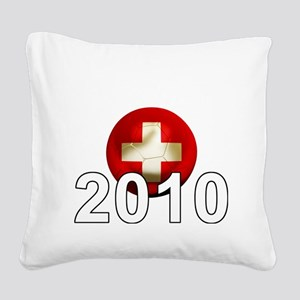 Switzerland Football2Bk Square Canvas Pillow