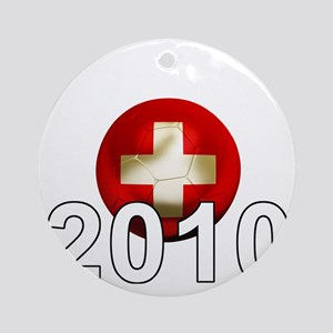 Switzerland Football2Bk Round Ornament