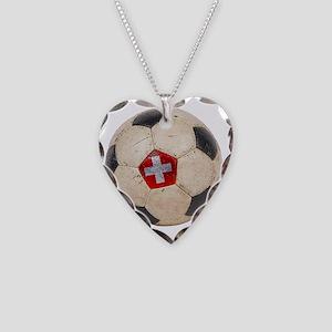 Switzerland Football4 Necklace Heart Charm