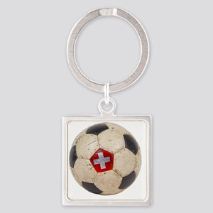 Switzerland Football4 Square Keychain