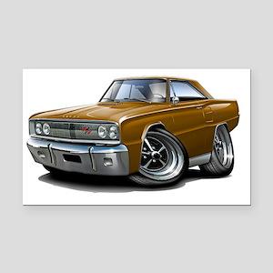 1967 Coronet RT Brown Car Rectangle Car Magnet