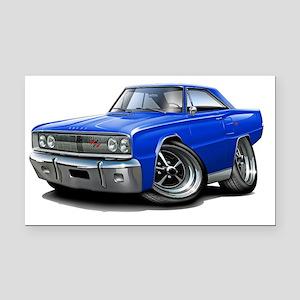 1967 Coronet RT Blue Car Rectangle Car Magnet