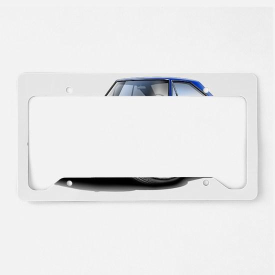 1967 Coronet RT Blue Car License Plate Holder