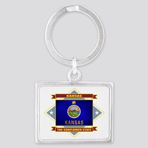 Kansas diamond Landscape Keychain