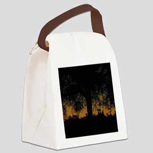 New Orleans Cemetary Sunset Canvas Lunch Bag