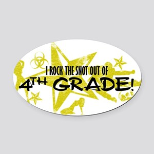 4TH GRADE Oval Car Magnet