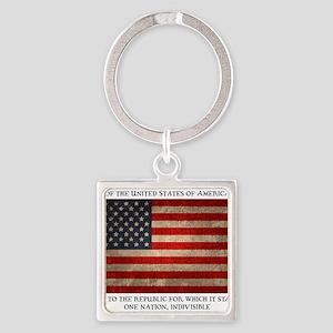 flag-pledge-LTT Square Keychain