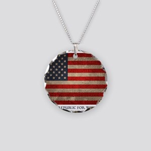 flag-pledge-LTT Necklace Circle Charm