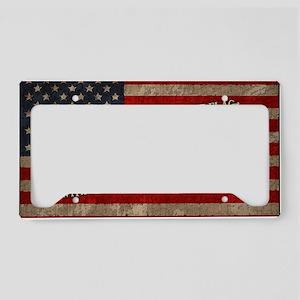 flag-pledge-CRD License Plate Holder