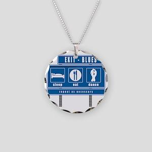 sleep-eat-dance-highway-blu Necklace Circle Charm