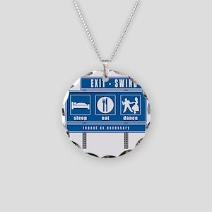 2-sleep-eat-dance-highway-sw Necklace Circle Charm