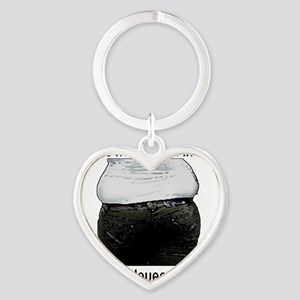 muffin-top Heart Keychain