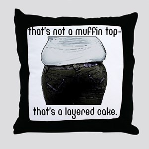 muffin-top Throw Pillow