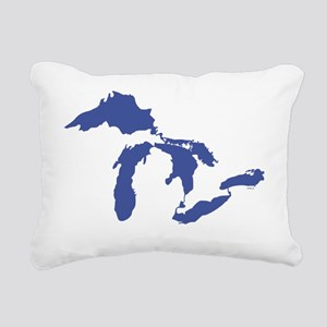 Great_Lakes_Drk_Blu_15.3 Rectangular Canvas Pillow