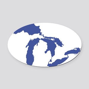 Great_Lakes_Drk_Blu_15.35_x_15.35 Oval Car Magnet