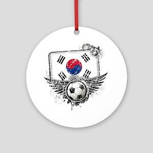 Soccer fan South Korea Round Ornament