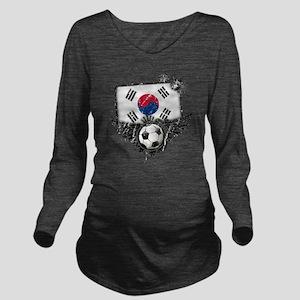 Soccer fan South Kor Long Sleeve Maternity T-Shirt