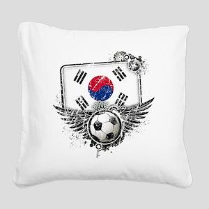 Soccer fan South Korea Square Canvas Pillow