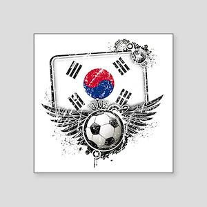 "Soccer fan South Korea Square Sticker 3"" x 3"""
