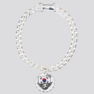 Soccer fan South Korea Charm Bracelet, One Charm