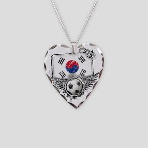 Soccer fan South Korea Necklace Heart Charm