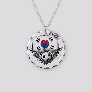 Soccer fan South Korea Necklace Circle Charm