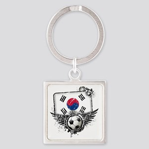 Soccer fan South Korea Square Keychain